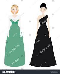 beautiful woman dresscode smiling female luxury stock vector