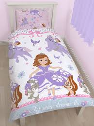 Sofia Bedding Set Disney Sofia The Wings Single Duvet Cover And Pillowcase