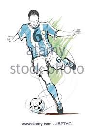 soccer player poster football player vector illustration stock