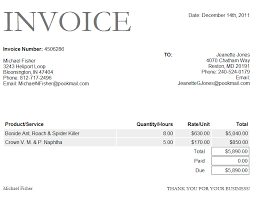 free invoice template word format download projectmanagementinn
