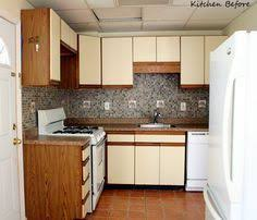 Laminate Kitchen Cabinets Refacing by Love This Kitchen Redo Painting Cabinets Can Make All The