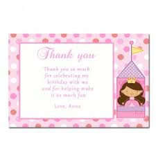 baby shower thank you notes fairy princess thank you card notes birthday party baby shower 1st