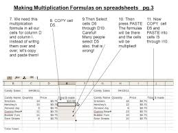 Formulas For Spreadsheets Making Multiplication Formulas On Spreadsheets Pg 1 1 We Are