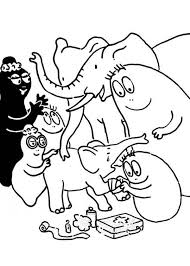 barbapapa barbamama care baby elephant coloring