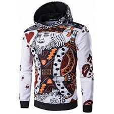 whatlees 3d long sleeve poker hoodie m 26 97 online shopping