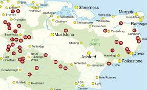 Map Of Kent England by Walking In Kent