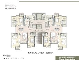 Block House Plans by Floor Plan Unique Harmony Apartments Jaipur Residential