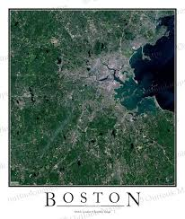 Map Of Boston by Boston Ma Area Satellite Map Print Aerial Image Poster