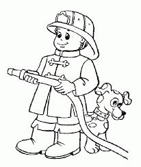 fireman drawing coloring