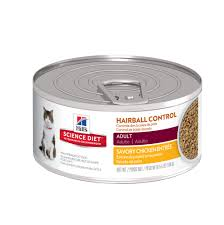 hills science diet hairball control savory chicken entree
