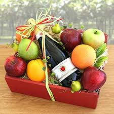 organic fruit gift baskets organic sparkler fruit basket s day gift idea