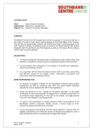 Sle Resume For Senior Graphic Designer senior graphic designer description yun56 cos description 13177