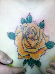 yellow rose tattoo bayside tattoo traverse city tattoo shop