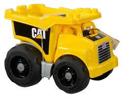 amazon com mega bloks caterpillar large dump truck toys u0026 games