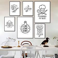 black and white prints for kitchen 2021 black white kitchen posters nordic prints wall
