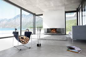 Fireplace Toolset - simplicity modern stainless steel fireplace tools set scenario home