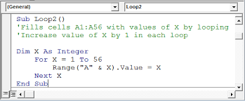 visual basic for loop 7 examples of for loops in microsoft excel vba microsoft excel