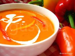 cuisiner les poivrons rouges velouté aux deux poivrons soupe onctueuse aux poivrons jaunes et