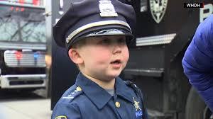 boston massachusetts police support boy battling cancer cnn