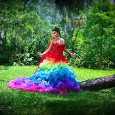 rainbow wedding dresses for modish women u2013 designers