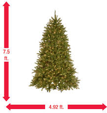 7 5 ft dunhill fir artificial tree with 750 9 function