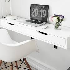 White Office Desk Ikea Best 25 Wall Mounted Desk Ikea Ideas On Pinterest Ikea Wall