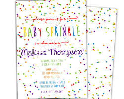 what is a sprinkle shower rainbow confetti baby sprinkle shower invitation party print express