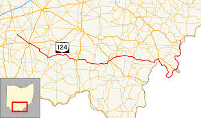 Ohio County Map With Roads by Ohio State Route 124 Wikipedia
