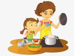 maman cuisine maman est à la cuisine dessin feu flamme image png pour le