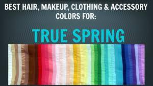spring color palette best hair makeup colors warm skin