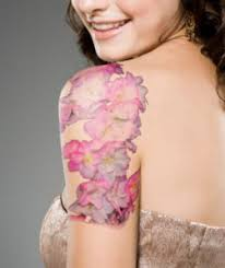 cherry blossom tattoos are a unique design and are a favorite