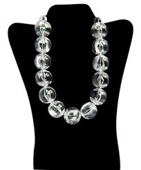 big statement necklace images Synthetic clear beads big plastic ball statement necklace tradesy jpg