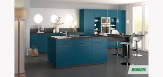 cuisine gris et bleu bleu canard