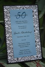 template stylish 50th birthday invitations black and white with