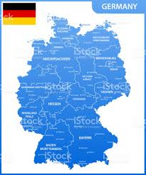 The Germany Flag The Detailed Map Of The Germany With Regions Or States And Cities