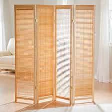 Screen Room Divider Tranquility Wooden Shutter Room Divider Hayneedle