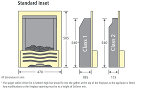 Standard Fireplace Dimensions by Pureglow Daisy Gas Fire Flames Co Uk