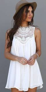 white summer dresses sweet a line white tank dress oasap tank dress clothes