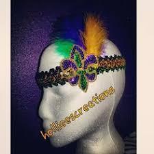 mardi gras headbands mardi gras headband purple headband green yellow headband