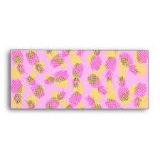 yellow pineapple printed u0026 mailing envelopes zazzle