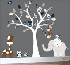 Nursery Wall Decals Canada Baby Nursery Decor Jungle White Trees Stickers Baby Boy Nursery