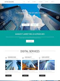 office building html template office building website