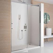Sliding Shower Door 1200 Merlyn 8 Series 1200mm Polished Chrome Frameless Sliding Shower