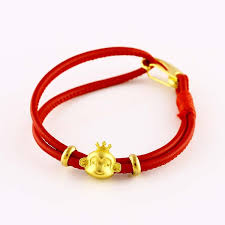 black bracelet with charm images Hot monkey leather bracelets charm clasp change luck red black jpg