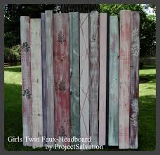 hand crafted girls twin headboard faux headboard reclaimed wood