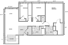 bedroom 3 bedroom floor plans with dimensions lawrence