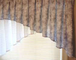 Snowman Valances Aqua Valance Curtain Blue Green And Tan Cream Stripes 43