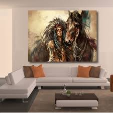compare prices on painting native american online shopping buy qk art oil painting frameless native americans canvas print wall pictures for living room bedroom posters