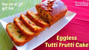 tutti cuisine eggless tutti frutti cake favorite cake recipe ब न