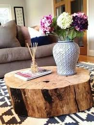 Wood Trunk Coffee Table Ambiance Cocooning Dans Une Maison Des Pays Bas Tree Stump